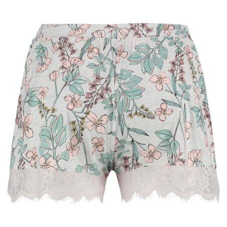 Pyjama short Jersey lace, Grijs
