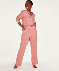 Petite pyjamabroek Jacquard Stripe, Roze