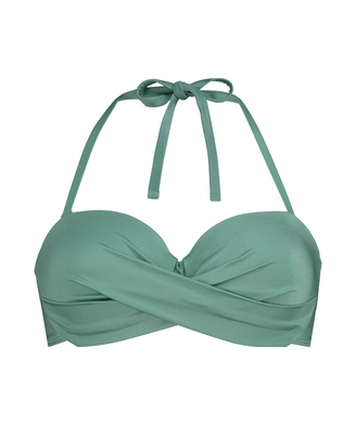Voorgevormde push-up beugel bikinitop SoCal, Groen