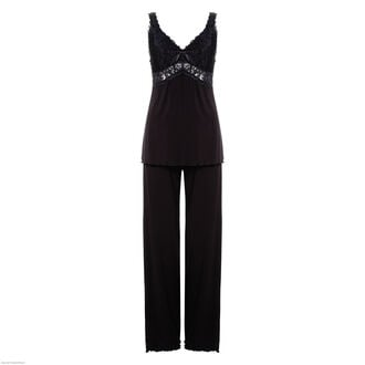Pyjama set Modal Lace, Zwart