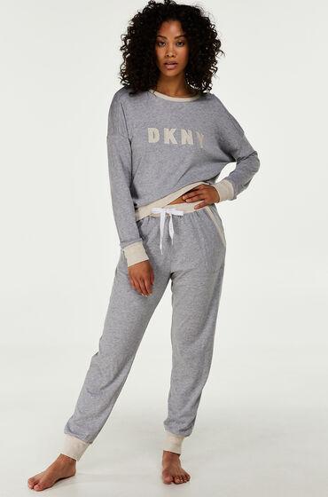 Hunkemöller DKNY lange pyjama set Grijs