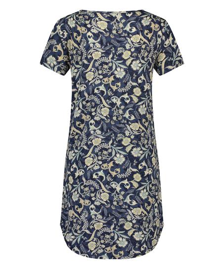 Nachthemd korte mouwen Jersey, Blauw