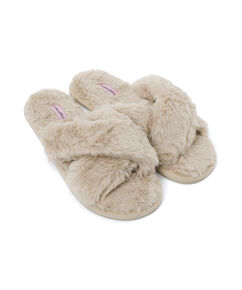 Cross Straps Indoor Sandal, Wit