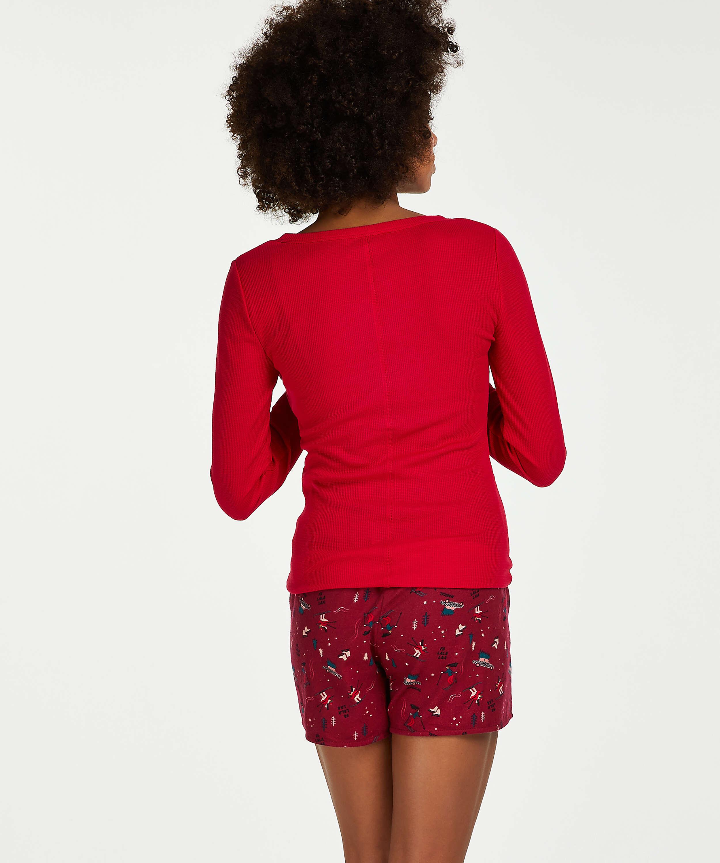 Pyjamatop lange mouwen, Roze, main