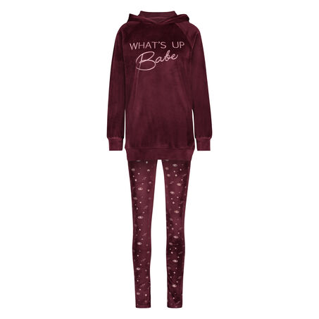 Cadeauset Pyjama Velours , Rood