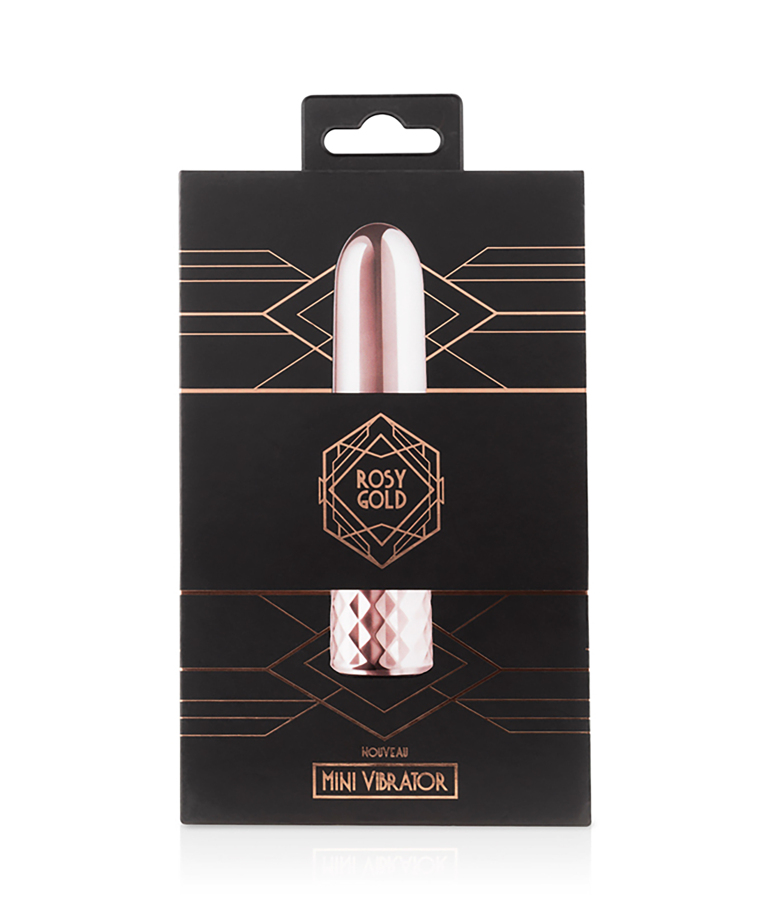 Rosy Gold Nouveau Mini Vibrator, Roze, main
