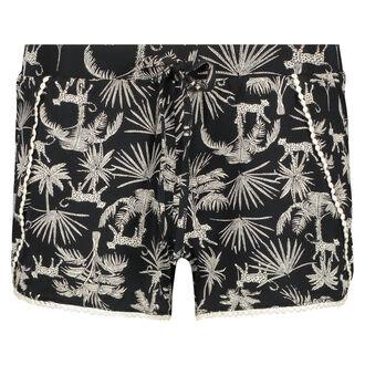 Pyjama short Jersey, Zwart