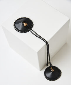 Private nipple cover chain, Zwart