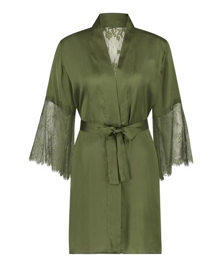 Kimono Satijn Lily, Groen