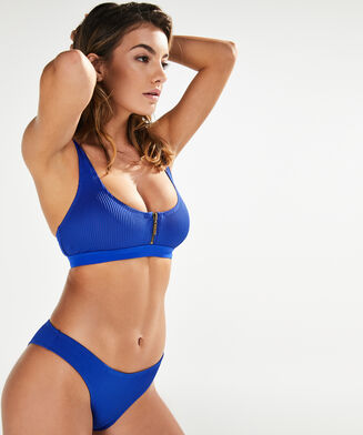Laag cheeky bikinibroekje Crop Game, Blauw