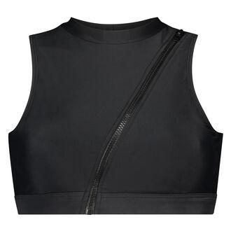 HKMX Bikini crop top, Zwart