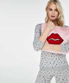 Kussen lips, Roze