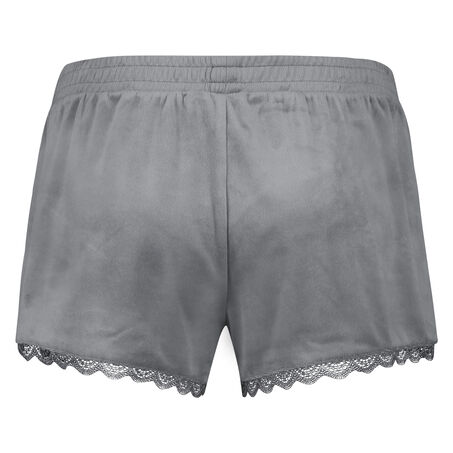 Pyjama short velours, Grijs