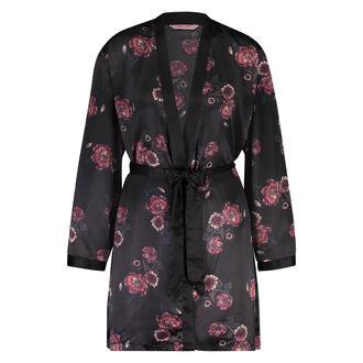 Kimono Satin, Zwart