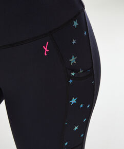 HKMX high waist sport legging Star, Zwart