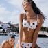 Voorgevormde beugel bikinitop Scallop Dot, Wit