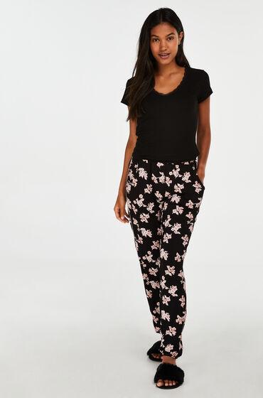 Hunkemöller Pyjamabroek Jersey Zwart