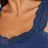 Singlet Rib Lace, Blauw