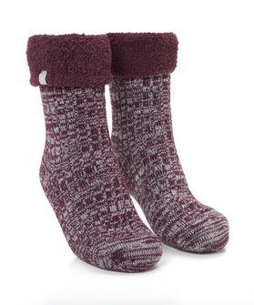 1 paar Cosy rib sokken, Rood