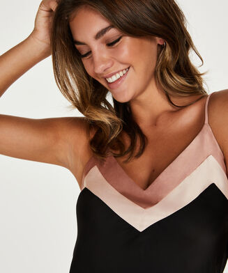 Cami top Satin Nightshade Doutzen, Zwart