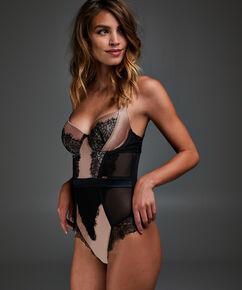 Body met voorgevormde beugel Arianne, Zwart
