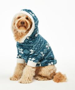 Fleece honden onesie, Blauw
