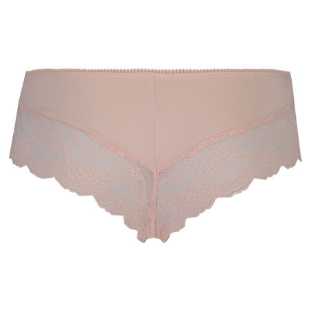 Brazilian ruched lacey, Roze
