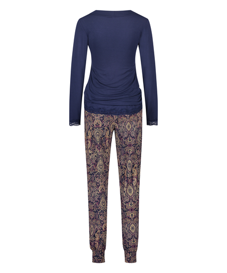 Voedings pyjamaset , Blauw