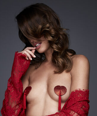 Private Heart Nipple covers, Rood