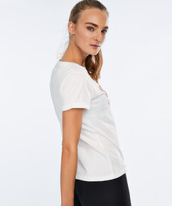 HKMX Sport shirt Valentine, Wit