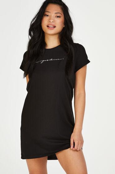 Hunkemöller Nachthemd ronde hals Zwart