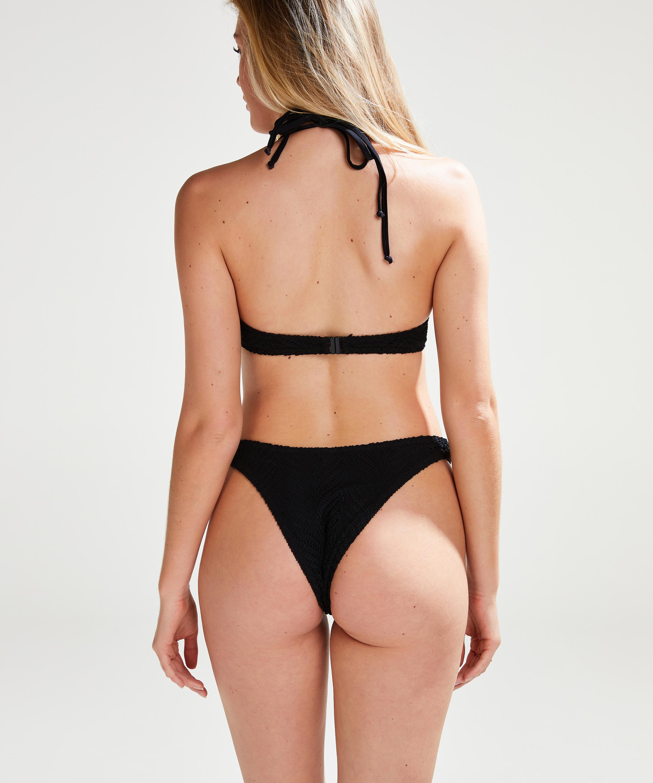 Bikini push-up Top Crochet, Zwart, main
