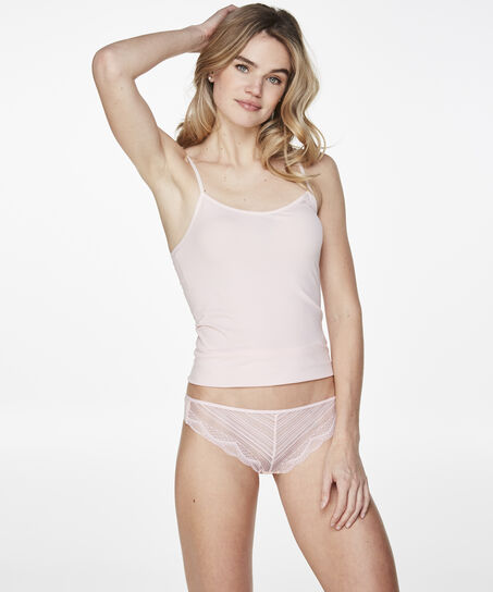 String Invisible lace front micro back, Roze