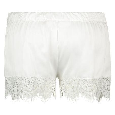 Pyjama short Satin Bridal, Wit