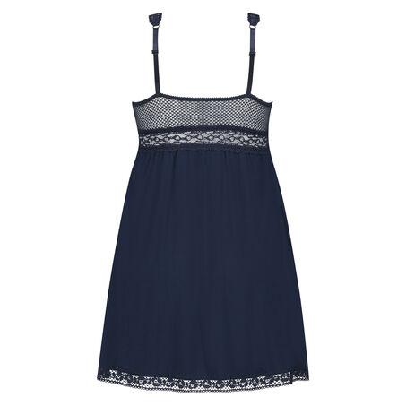 Slipdress Graphic lace, Blauw