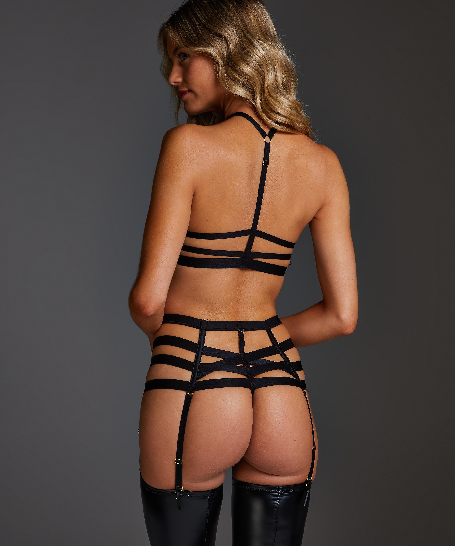 Hoge string Ivy, Zwart, main