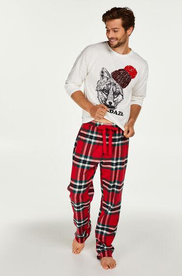 Hunkemöller Pyjamaset heren Rood