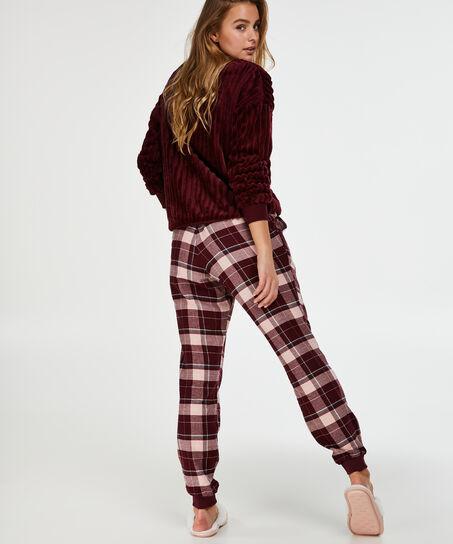 Pyjamabroek Check, Rood