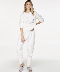Image of Hunkemöller Pyjamabroek fleece Wit