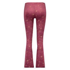 Flared Velours Legging, Rood