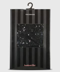 Mondkapje Sequin, Zwart