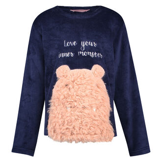 Fleece sweater Kids, Blauw