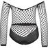 Private Fishnet Set, Zwart