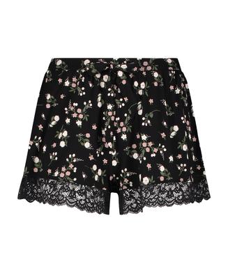 Shorts Ditzy Flower, Zwart