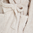 Lange badjas Fleece, Beige