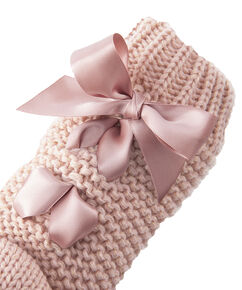 Slippersok Lace-Up, Roze