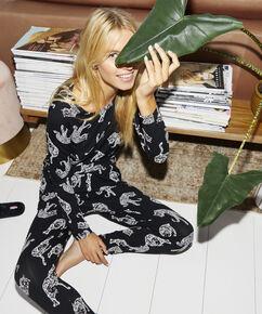 Pyjamabroek Jersey loose fit , Zwart
