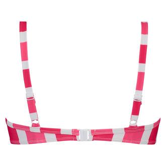 Voorgevormde beugel bikinitop Candy Stripes, Roze