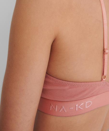 Niet-voorgevormde beugel bh Amalia HKM x NA-KD, Roze
