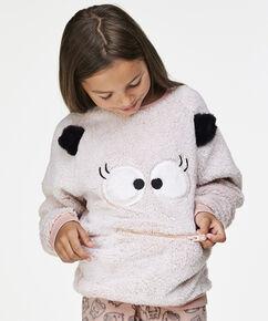 Fleece sweater Teens, Roze